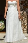 robe de mariée bustier avec traîne - Occasion du Mariage