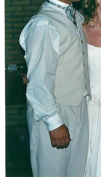 Costume de marié ivoire complet T40/42 d'occasion