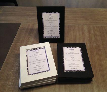 Lot de 12 cadres photos noir blanc pour menu mariage Val