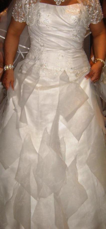 Robe de Mariée bustier Ivoire originale de chez Point Mariage