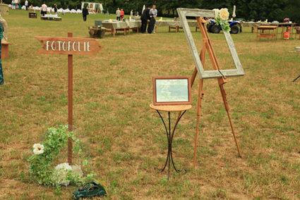 Panneau Photobooth en décoration de mariage