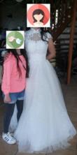 Robe de mariée blanche avec col - Occasion du Mariage