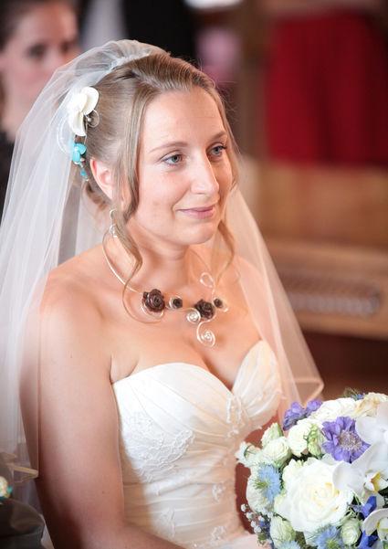 Robe de mariée ivoire lassage chocolat - Savoie (Haute)