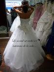 Superbe robe mariée princesse blanche strassée - Occasion du Mariage