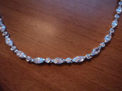 Bijoux de mariée pas cher / Collier Argent/zirconium 2012 Occasion du mariage