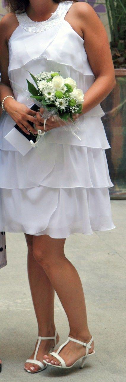 robe de mari e courte avec strass d 39 occasion montpellier. Black Bedroom Furniture Sets. Home Design Ideas
