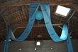 Tenture plafond turquoise imprimé chocolat - Occasion du Mariage