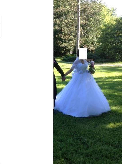 Robe de mariée d'occasion de chez l'empire du mariage collection 2012 avec voile + étole