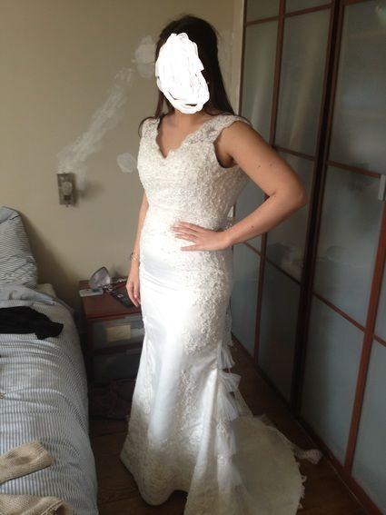 Robe de mariée d'occasion couleur blanche T38/40