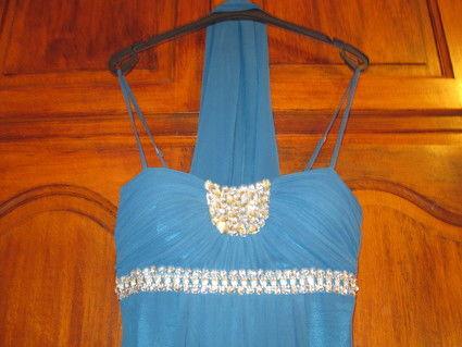 Robe de soirée longue Bleu d'occasion T4042