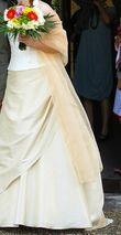 Etole organza champagne - Occasion du Mariage