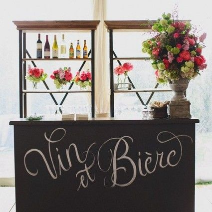 tableau noir bar stand photo en d co de mariage paris. Black Bedroom Furniture Sets. Home Design Ideas
