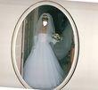 Robe de Mariée faite Sur Mesure en satin  blanc d'occasion