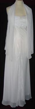 Robe de cocktail blanche avec voile pas cher d'occasion 2012 - Languedoc Roussillon - Hérault - Occasion du Mariage