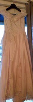 Robe de mariée rose pâle 3 volants - Occasion du Mariage