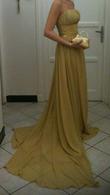 Robe de soirée dorée - Occasion du Mariage
