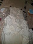 Robe mariage bustier en taffetas ivoire/champagne avec jupon