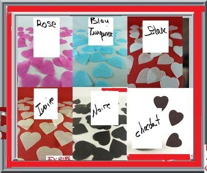 Lot de 100 gros confettis coeur décoration table mariage - Occasion du Mariage