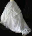 Jupe de mariée pas cher blanche ample avec traine et bustier d'occasion 2012 - Occasion du mariage
