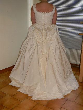Robe de mariée bustier pas cher + jupe - Rhône-Alpes 2012 - Occasion du Mariage