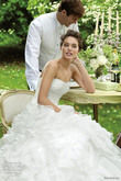 Sublime Robe de mariée Pronovias modèle Blanca T34-36 d'occasion