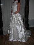 Magnifique robe de mariée Pronovias Cymbeline couleur écru avec dentelle pas cher en 2013