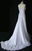 Robe de mariée longue pas cher en satin blanc 2012 - Occasion du mariage