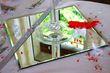 25 Miroirs de table carrés 50 cm x 50 cm  - Occasion du Mariage