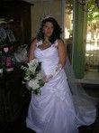 Robe de mariée d'occasion taille 48/50 lacets au dos