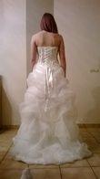 Robe de mariée courte devant et longue derrière d'occasion