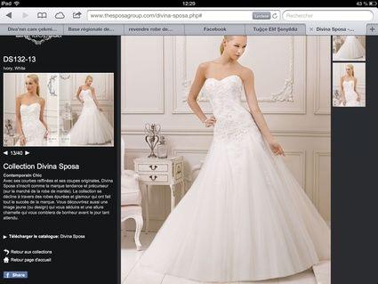 Robe de mariée collection Divina sposa 2013 avec voile et jupon