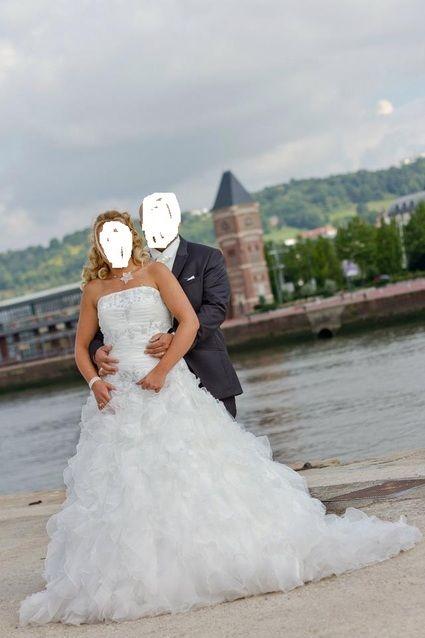 Robe de mariée Miss Kelly avec son jupon et longue traine - Occasion du Mariage