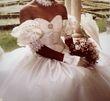 Robe de mariée en soie sauvage couleur champagne