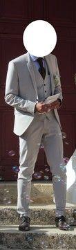Costume 3 pièces beige uni PRONUPTIA - Occasion du Mariage