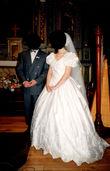 robe satin brodé T 40 - Occasion du Mariage
