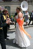 Robe de mariée Prestige et Création en soie froissée ivoire