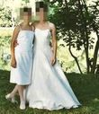 Robe de mariée en soie type bustier de confection artisanale à Montpellier