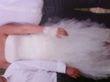 Robe de mariée d'occasion sur mesure avec longue traîne