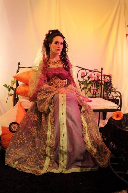 Takchita de mariée satin duchesse