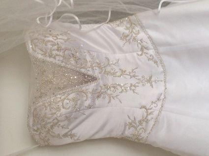 Location et vente de robes de mariée, jupon, mitaine, voile et traine