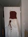Robe de mariée taille 40 ivoire et bordaux d'occasion