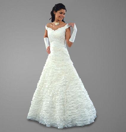 robe de mariée d'occasion couleur blanche 2012 - Occasion du Mariage