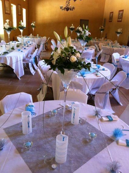 Location vase martini pour décoration de mariage
