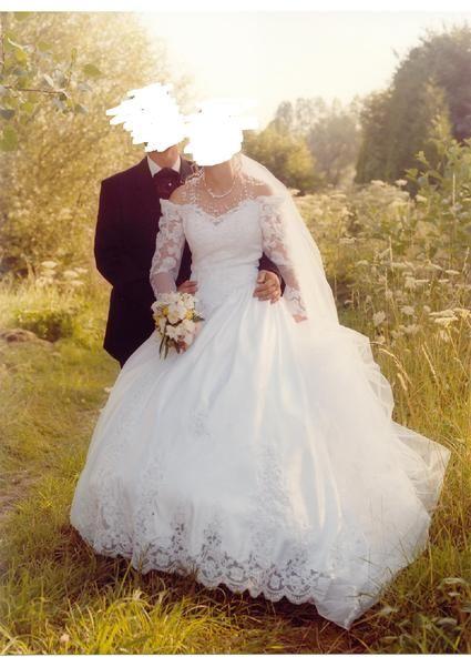 Robe de mariée Complicité avec traine perlée et brodée + jupon + voile - Occasion du Mariage