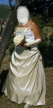 Robe bustier ivoire - Occasion du Mariage