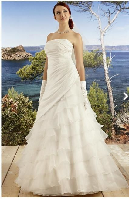 Robe de mariée Complicité + crinoline + étole d'occasion
