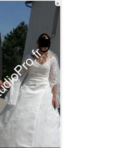 Robe de mariée en dentelle anglaise pas cher
