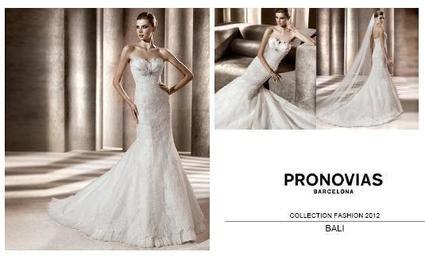 Robe de mariée Pronovias  modèle Bali 2012 avec ceinture interne