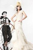 Yolan Cris robe soie et dentelle ivoire T.40  - Occasion du Mariage