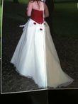 robe de mariée bordeaux et blanche - Occasion du Mariage
